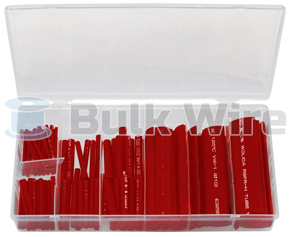 Picture of 127 Piece Assorted Heat Shrink Tubing Kit Red Color by Powerwerx