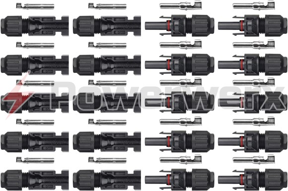 Picture of 10 Pairs MC4 Male/Female Solar Panel Cable Connectors