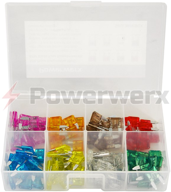 Picture of 100 Piece Automotive Mini/ATM Blade Fuse Assortment Kit