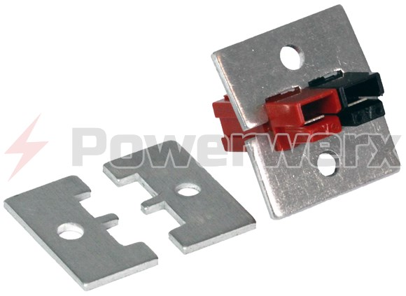 Picture of 1462G1 Powerpole Mounting Clamp Pair for 2 or 4 PP15/30/45 Powerpole Connectors