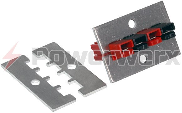 Picture of 1462G3 Powerpole Mounting Clamp Pair for 4 or 8 PP15/30/45 Powerpole Connectors