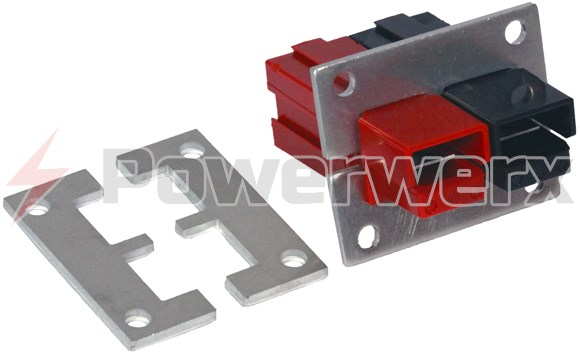 Picture of 1463G1 Powerpole Mounting Clamp Pair for 2 or 4 PP75 Powerpole Connectors