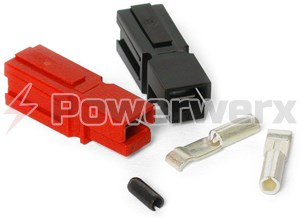 Picture of 15 Amp Unassembled Red/Black Anderson Powerpole Connectors