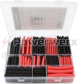 "Picture of 198 Piece Assorted Heat Shrink Tubing Kit, Red & Black, 1"" to 1/8"""