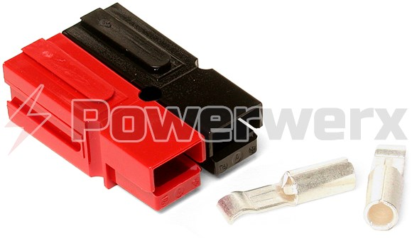 Bonded Wire | 30 Amp Permanently Bonded Red Black Anderson Powerpole Connectors