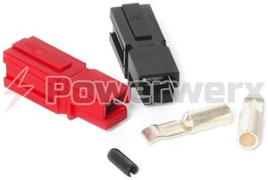 Picture of 30 Amp Unassembled Red/Black Anderson Powerpole Connectors