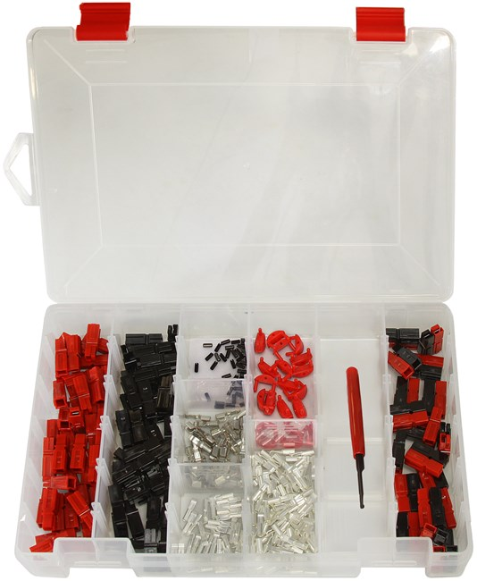 Picture of 301 Piece Assorted 15/30/45A Anderson Powerpole Case with Insertion / Removal Tool by Powerwerx