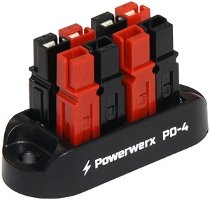 Picture of 4 Position Power Distribution Block for 15/30/45A Powerpole Connectors