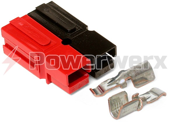Picture of 45 Amp Permanently Bonded Red/Black Anderson Powerpole Connectors