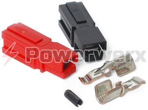 Picture of 45 Amp Unassembled Red/Black Anderson Powerpole Connectors