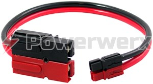 Picture of 75 amp Powerpole to 45 amp Powerpole Adapter Cable - 1 ft.