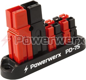 Picture of 75A Input 4 Position Distribution Block for 15/30/45A Powerpole Connectors
