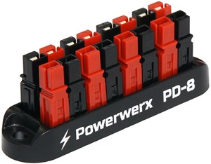 Picture of 8 Position Power Distribution Block for 15/30/45A Powerpole Connectors