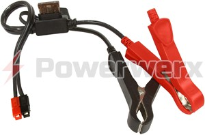 Picture of Alligator Clips with ATC fuse to Powerpole Connector