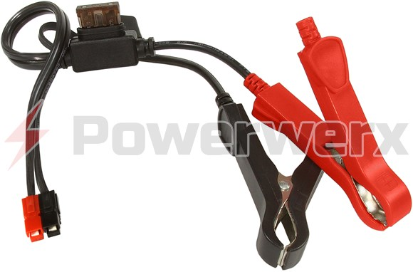 Alligator Clips with ATC fuse to Powerpole Connector | Powerwerx