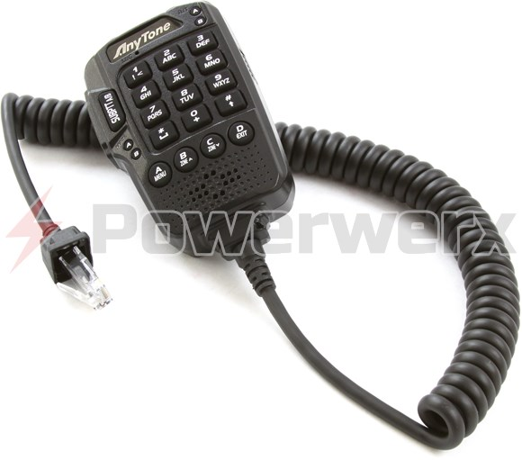 Picture of Anytone AT-D578UV Mobile Replacement Hand DTMF Microphone
