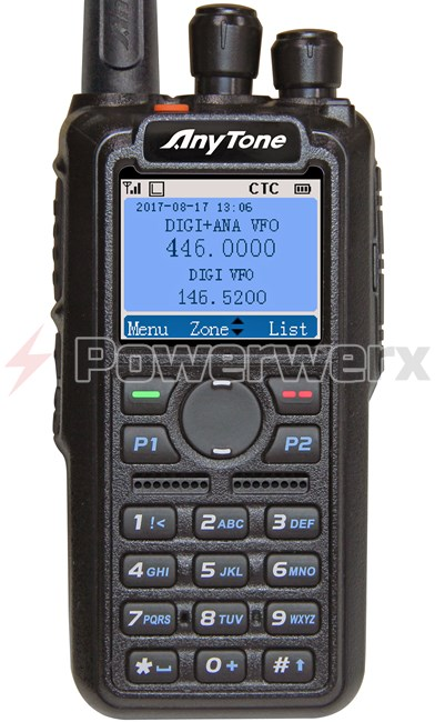 Picture of Anytone AT-D868UV Digital DMR Dual-band Handheld Commercial Radio with GPS