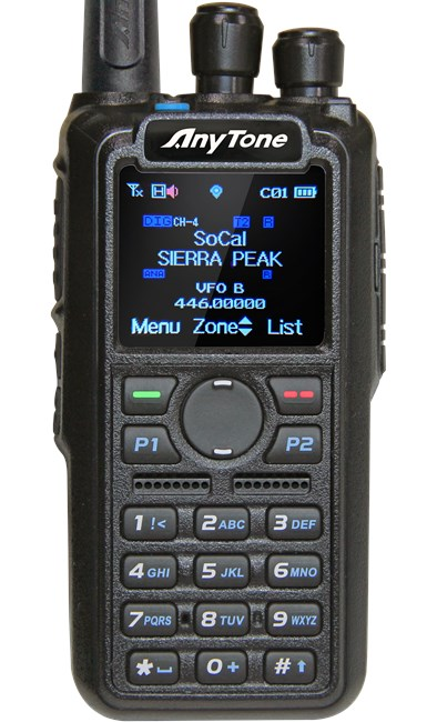 Picture of Anytone AT-D878UV Digital DMR Dual-band Handheld Commercial Radio with Roaming and GPS