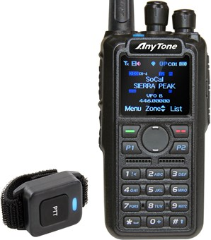 Picture of Anytone AT-D878UV Plus Digital DMR Dual-band Handheld Commercial Radio with GPS and Bluetooth