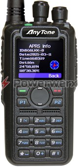 Picture of Anytone AT-D878UVII Digital DMR Dual-band Handheld Commercial Radio with GPS, APRS TX