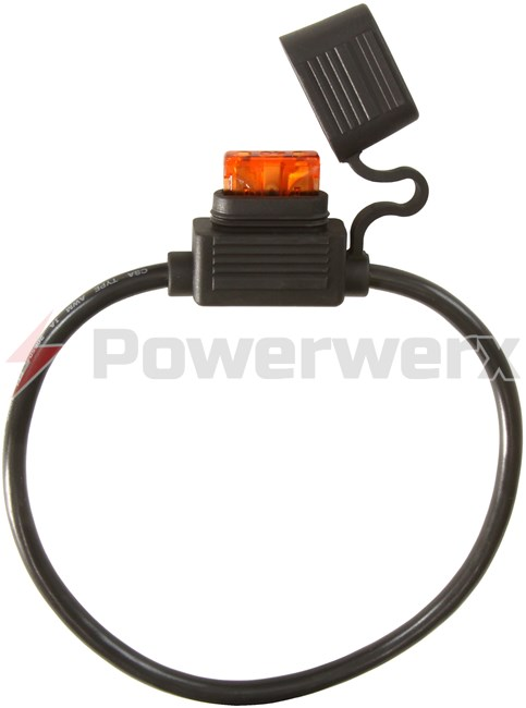 Picture of ATC/ATO Inline Fuse Holder (Gauge: 10, Color: Black)
