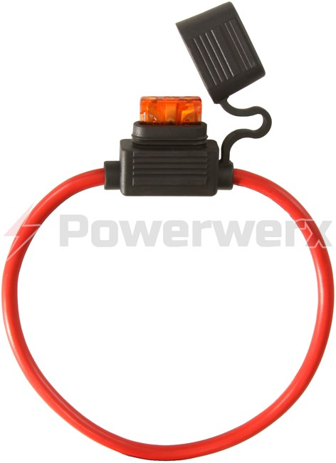 Picture of ATC/ATO Inline Fuse Holder (Gauge: 10, Color: Red)