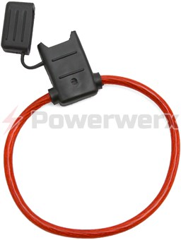 Picture of ATC/ATO Inline Fuse Holder (Gauge: 10, Color: Translucent Red)
