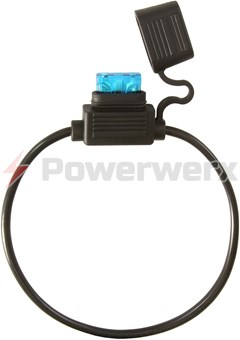 Picture of ATC/ATO Inline Fuse Holder (Gauge: 12, Color: Black)