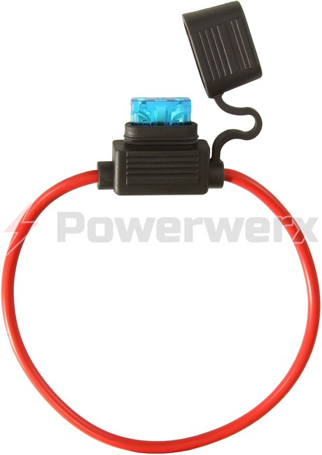 Picture of ATC/ATO Inline Fuse Holder (Gauge: 12, Color: Red)