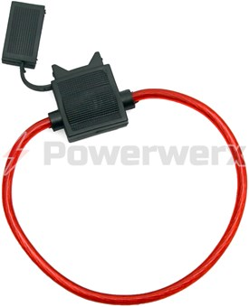 Picture of ATC/ATO Inline Fuse Holder (Gauge: 12, Color: Translucent Red)