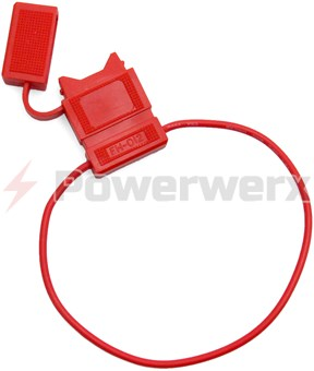 Picture of ATC/ATO Inline Fuse Holder (Gauge: 18, Color: All Red)