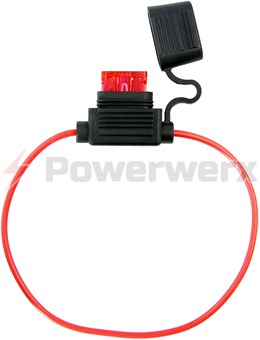 Picture of ATC/ATO Inline Fuse Holder (Gauge: 18, Color: Red)
