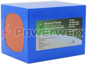 Picture of Bioenno BLF-1209A 12V, 9Ah Lithium Iron Phosphate (LiFePO4) Battery, PVC