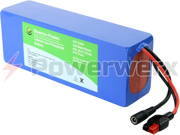 Picture of Bioenno BLF-1212A 12V, 12Ah Lithium Iron Phosphate (LiFePO4) Battery, PVC