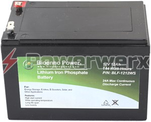 Picture of Bioenno BLF-1212AS 12V, 12Ah Lithium Iron Phosphate (LiFePO4) Battery, ABS
