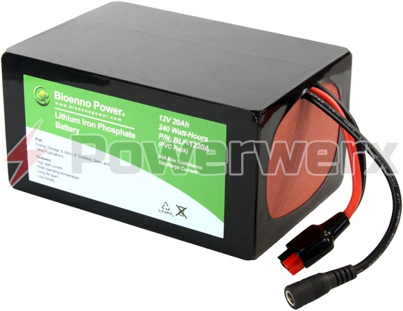 Picture of Bioenno BLF-1220A 12V, 20Ah Lithium Iron Phosphate (LiFePO4) Battery, PVC