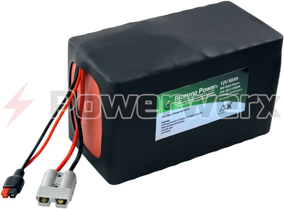 Picture of Bioenno BLF-1250A 12V, 50Ah Lithium Iron Phosphate (LiFePO4) Battery, PVC