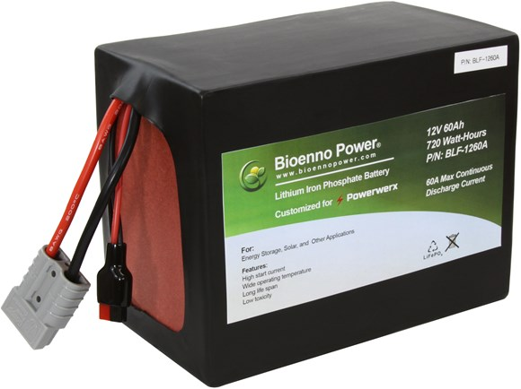 Picture of Bioenno BLF-1260A 12V, 60Ah Lithium Iron Phosphate (LiFePO4) Battery, PVC