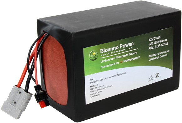 Picture of Bioenno BLF-1270A 12V, 70Ah Lithium Iron Phosphate (LiFePO4) Battery, PVC