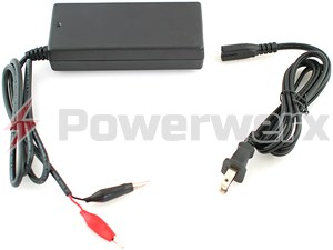 Picture of Bioenno Power BPC-1502CLIP 14.6V, 2A, AC-to-DC Charger with Alligator Clips for 12V LiFePO4 Batteries