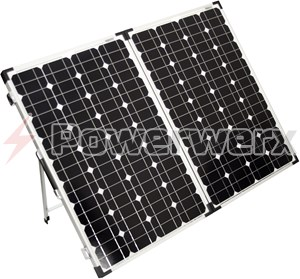 Picture of Bioenno Power BSP-120 120 Watt Foldable Solar Panel for Charging Power Packs and Padded Case