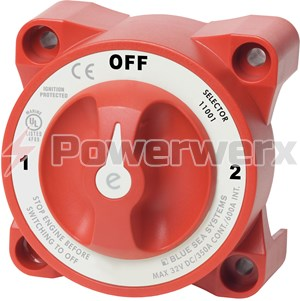 Picture of Blue Sea 11001 e-Series Selector 3 Position Battery Switch with AFD