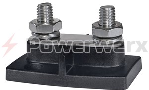 "Picture of Blue Sea 2020 PowerBar Dual BusBar Two 3/8"" 16 Studs"