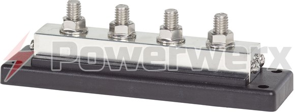 "Picture of Blue Sea 2104 PowerBar 600A BusBar Four 3/8"" 16 Studs"