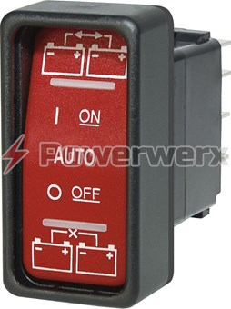 Picture of Blue Sea 2146 ML-Series Remote Control Contura SPDT Switch On-Off-On