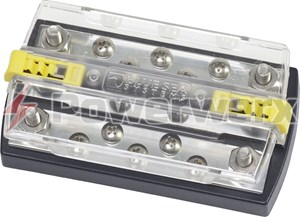 "Picture of Blue Sea 2722 DualBus Plus 150A BusBar 1/4"" with Cover"