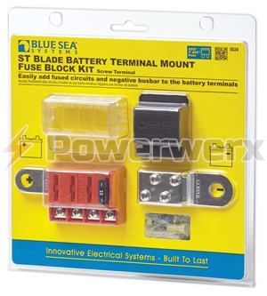 Picture of Blue Sea 5024 ST Blade Battery Terminal Mount Fuse Block Kit