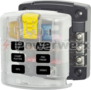Picture of Blue Sea 5028 6 Circuit Blade Fuse Block with Cover