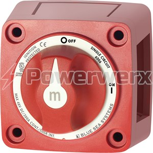 Picture of Blue Sea 6006 m-Series Mini Battery Switch Single Circuit On Off Red