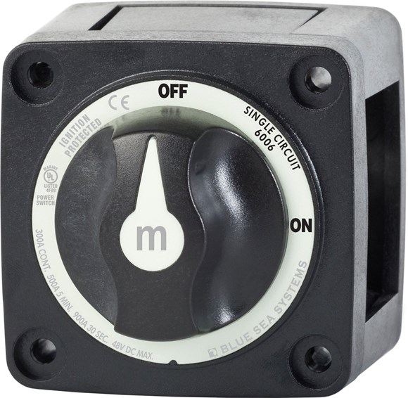 Picture of Blue Sea 6006200 m-Series Mini Battery Switch Single Circuit On Off Black